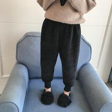 女童加bm裤子秋冬2m0新式加厚洋气灯芯绒长裤童装宝宝冬装休闲裤