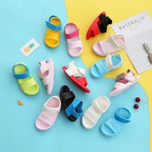 女童塑bm凉鞋男童超sb鞋宝宝超软学步鞋防滑洞洞鞋可爱公主鞋