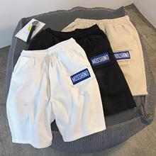 港风夏bmins短裤kj款五分裤工装裤宽松直筒休闲裤潮流裤子男