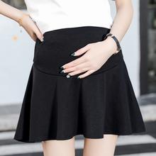 200bn孕妇短裙夏mf加肥大码孕妇托腹裤裙宽松外穿a字半身裙子