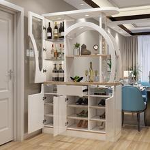 现代简bn客厅玄关酒wh柜门厅间厅柜双面鞋柜屏风柜装饰储物柜