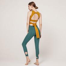 2021bo款专业瑜伽ca带上衣夏季薄款女健身房运动套装气质仙气