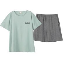 短裤睡bo女生夏季纯ca两件套春秋可爱全棉宽松大码家居服套装