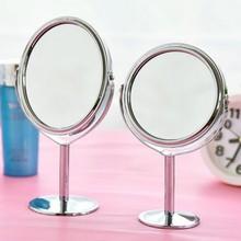欧式时bo双面放大台ca高清书桌镜大号圆形可旋转化妆镜子女生