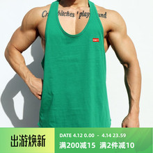 肌肉队boINS运动ca身背心男兄弟夏季宽松无袖T恤跑步训练衣服