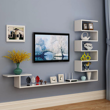 壁挂式bo视柜客厅墙ca悬挂(小)户型机顶盒架现代装饰柜墙柜