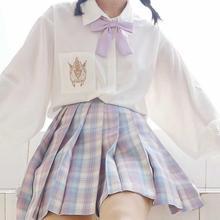 日系jbo制服202yb新式宽松百搭长袖衬衫女学生学院风衬衣女上衣