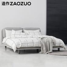 造作ZboOZUO云yc欧现代简约软包创意卧室家具(不含床垫)
