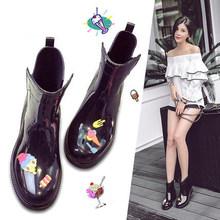 雨鞋水bo时尚中筒女me雨靴外穿短筒低帮防滑韩国可爱套鞋胶鞋