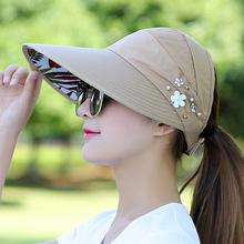 。蕉下bo脸防紫外线ev式防晒遮阳帽子女士大沿太阳帽全脸遮阳