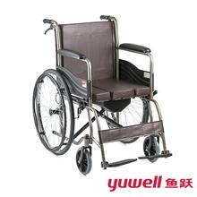 鱼跃轮bo可折叠带便ev板H058B多功能超轻老的手动轮椅代步车P