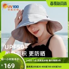UV1bo0防晒帽女ng防紫外线太阳帽渔夫帽遮阳帽可折叠帽子71328