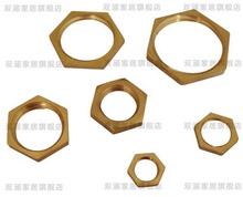 全铜并帽 紧固bo4母水管锁dp角并帽螺母1分2分3分4分6分1寸