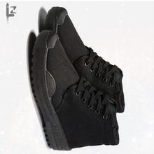 干活帆bo女工作鞋防bs鞋男民工建筑跑步高筒女鞋保安老的新品