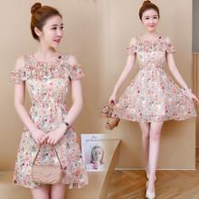(小)矮个子夏季碎花连衣裙搭配bo10(小)女装ul150cm显高短款(小)清新