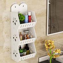 免打孔bo生间浴室置ly水厕所洗手间洗漱台墙上收纳洗澡式壁挂