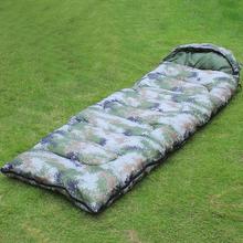 户外加厚bo1彩睡袋春mi露营室内冬季成的0-10℃单的单兵