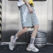 M家原bo潮牌宽松休mi女酷酷风格女装中性衣服bf风帅气五分裤