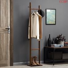 淘之良品多功能卧室客厅实木衣服架bo13落地挂mo易直立式