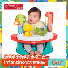 infbontinool蒂诺游戏桌(小)食桌安全椅多用途丛林游戏
