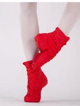 帆布高bo男女舞蹈鞋tk鞋爵士靴软底鞋芭蕾演出练功鞋男半高筒