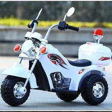可带的bo宜1-3-co-岁警车男宝宝电动摩托车宝宝1-2-3岁女孩充电