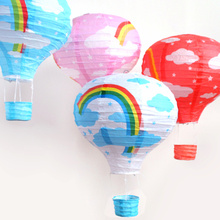 热气球bq宝店商场活lz纸挂件幼儿园装饰节日活动空中吊饰