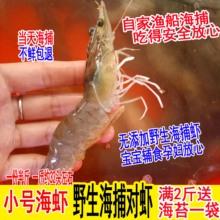 (小)号野br新鲜活虾对re虾海虾青虾鲜活海鲜4斤包邮 水产