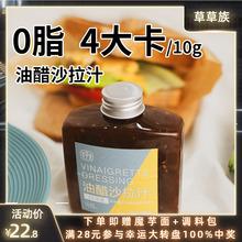0脂肪br醋汁沙拉汁df低脂蔬菜调料酱料蘸料零卡健身水果