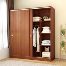 全挂式br易衣柜大容aq子抽屉经济型木头储物1米2推拉门宝宝约