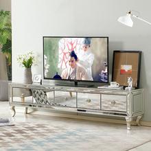 欧款客厅电视柜现代简br7迷你(小)户nd木镜面电视机柜新古典柜