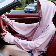 防晒神br女夏季遮脸jo功能纯色亲子骑车开车遮阳护颈面纱披肩