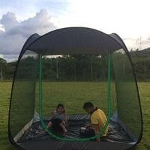 速开自br帐篷室外沙ga外旅游防蚊网遮阳帐5-10的