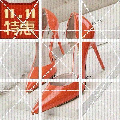 新式橘br色侧空高跟ht跟漆皮裸色宴会鞋尖头酒红色夜店单鞋