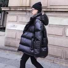 冬季亮面br1衣外套女ng宽松羽绒棉服2020年新款面包服棉袄潮
