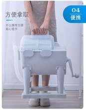 新品上bs不用电滚筒lj脱水机(小)型衣物漂洗甩干桶宿舍手动脱水