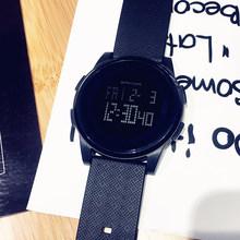 潮流韩bu简约运动男d4时尚电子表数字式防水夜光超薄学生手表