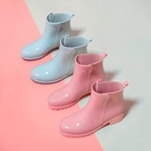 雨鞋女bu防滑雨靴短d4可爱时尚式外穿冬保暖加绒棉内套防水鞋