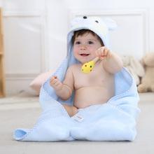 金号纯bu方形带帽浴id婴儿四季新生儿浴巾洗澡游泳宝宝抱被巾