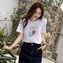 202bu年新式夏季ew松纯棉短袖t恤女半袖体��时尚洋气减龄�B血