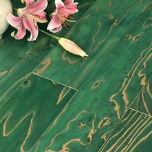 积加实bu复合地板榆ll浮雕仿古地热红绿橙褐色自然品质保证