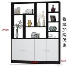 休闲门bu玄关柜简约fi吧台酒柜家具现代门口双面柜。组装客厅