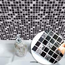 马赛克瓷砖贴遮丑bu5生间浴室ld厨房防油墙贴纸自粘腰线装饰