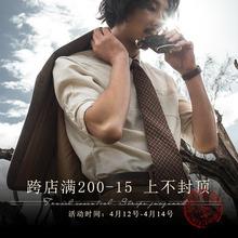 SOAbuIN原创设st七分袖亚麻衬衫男 复古棉麻中袖衬衣薄式寸衫