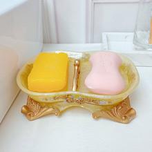 沥水香bu盒欧式带盖se欧家用大号手工皂盘浴室用品配件