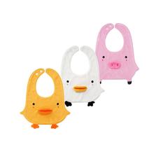 minbuzone男ix新生儿毛巾料可爱动物造型围嘴围兜0-2岁