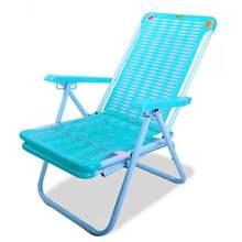 夏季躺bx折叠午休午lj料沙滩椅竹椅办公休闲简约便携阳台靠椅