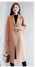 时尚双bx呢羊绒大衣mj冬羊毛中长式修身呢子高档厚毛呢外套女