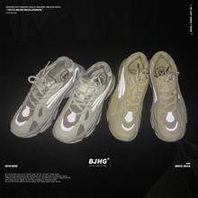 BJHbx韩款ULZw8G老爹鞋INS超火潮牌情侣休闲3M反光跑步运动鞋子男