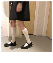 TTWbzuu@ 韩vuzzang(小)皮鞋玛丽珍女复古chic学生鞋夏